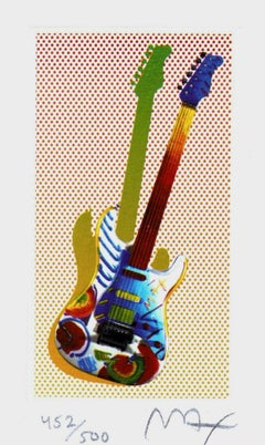 Rock N' Roll Guitar I, Limited Edition Lithograph (Mini), Peter Max SIGNED