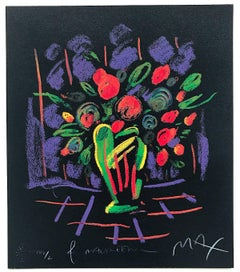 Romance Suite I: Flowers, Signed Limited Edition, Fluorescent colors on Black