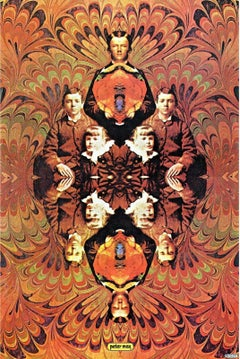 Siblings, Original 1968 Vintage Lithograph, Peter Max -SIGNED - RARE