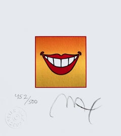 "Smile, Limited Edition Lithograph (Mini 4.875"" x 4.5""), Peter Max - SIGNED"