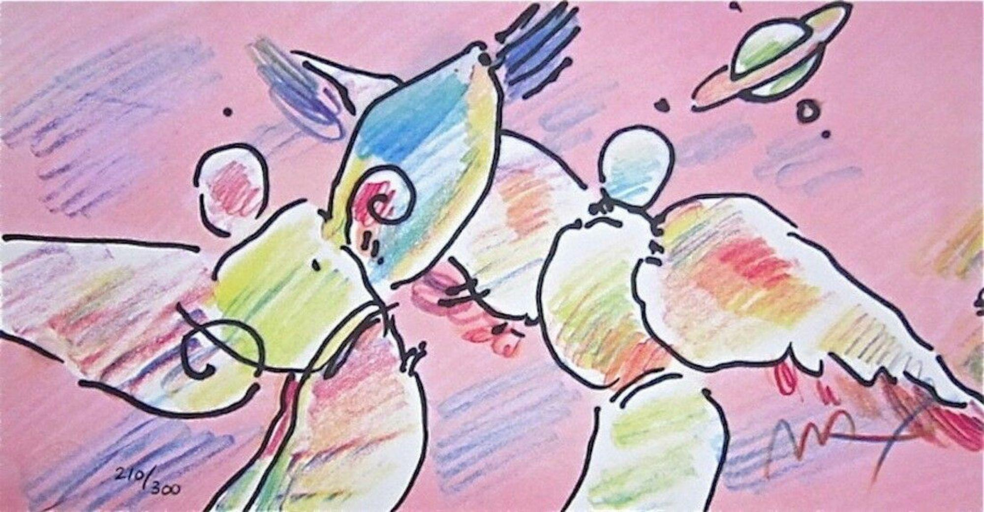 Space Angels, Limited Edition Lithograph, Peter Max - SIGNED