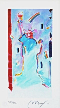 Statue of Liberty I, Limited Edition Lithograph, Peter Max - Signed