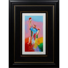 Peter Max Statue of Liberty (Signed, Stamped & Numbered)