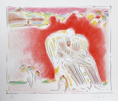 """""""The Garden"""", 1981, Lithograph by Peter Max"""