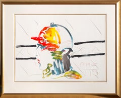 The Jockey, Hand-Embellished Lithograph by Peter Max