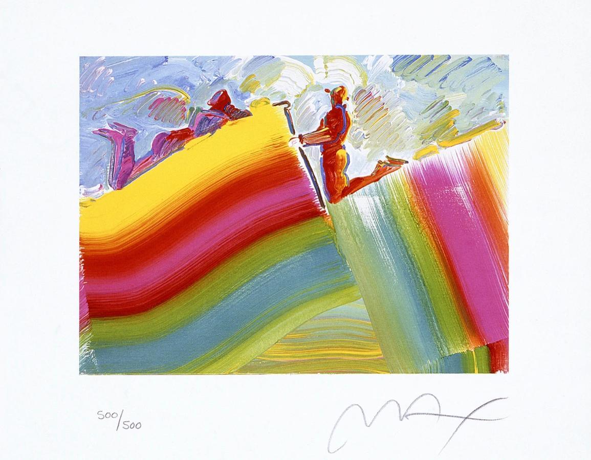 Two Figures On Rainbow