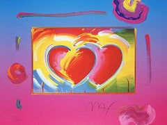 Two Hearts On Blends, Ltd Ed Lithograph, Peter Max - SIGNED