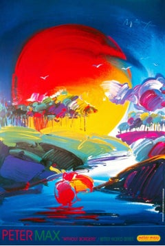 Without Borders, Original 2000 Lithograph, Peter Max -SIGNED