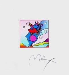 """Woodstock Profile, Limited Edition (Mini 4.875"""" x 4.5""""), Peter Max SIGNED"""