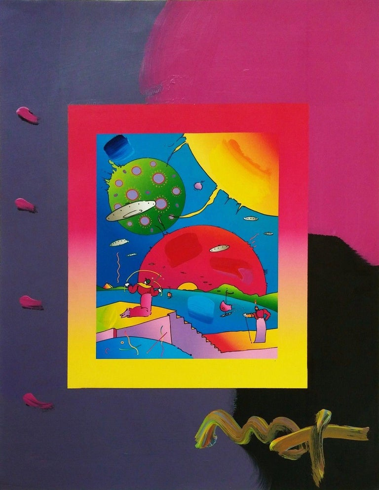 YEAR OF 2250 (OVERPAINT) - Mixed Media Art by Peter Max