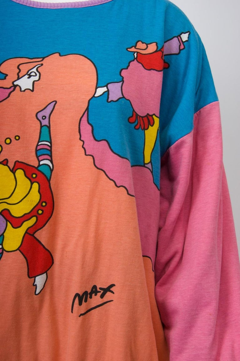 Peter Max sweatshirt made in 1989 based on the artist's 1973 serigraph