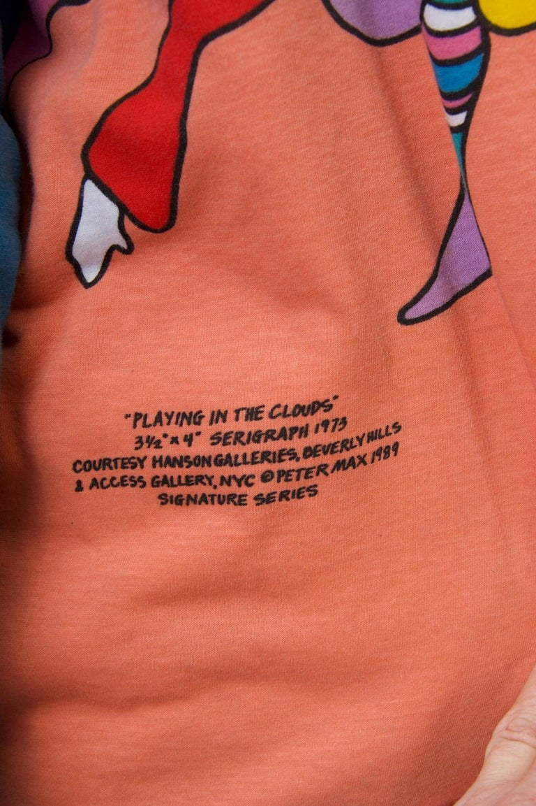 Peter Max Sweatshirt In Good Condition For Sale In Alford, MA