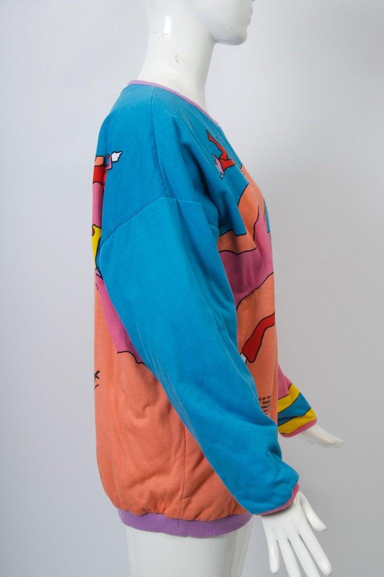 Peter Max Sweatshirt For Sale 1
