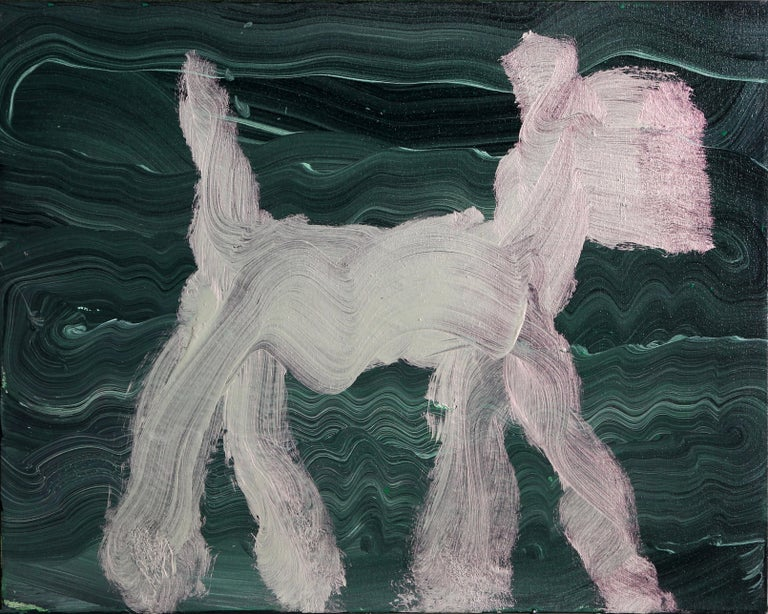 Peter Mayer Animal Painting - Dog Painting