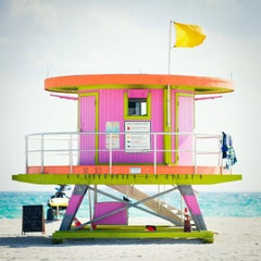 """10th St. Miami Lifeguard Stand - Rr View,"" Contemporary Photograph - 30 x 30"