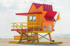 """8th Street Miami Lifeguard Stand,"" Contemporary Photograph, 30"" x 45"""