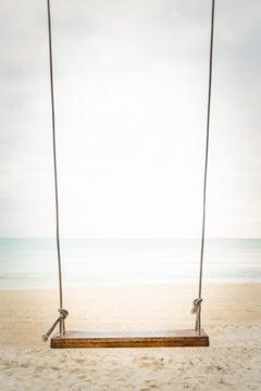 """Beach Swing,"" Contemporary Coastal Photograph, 45"" x 30"""
