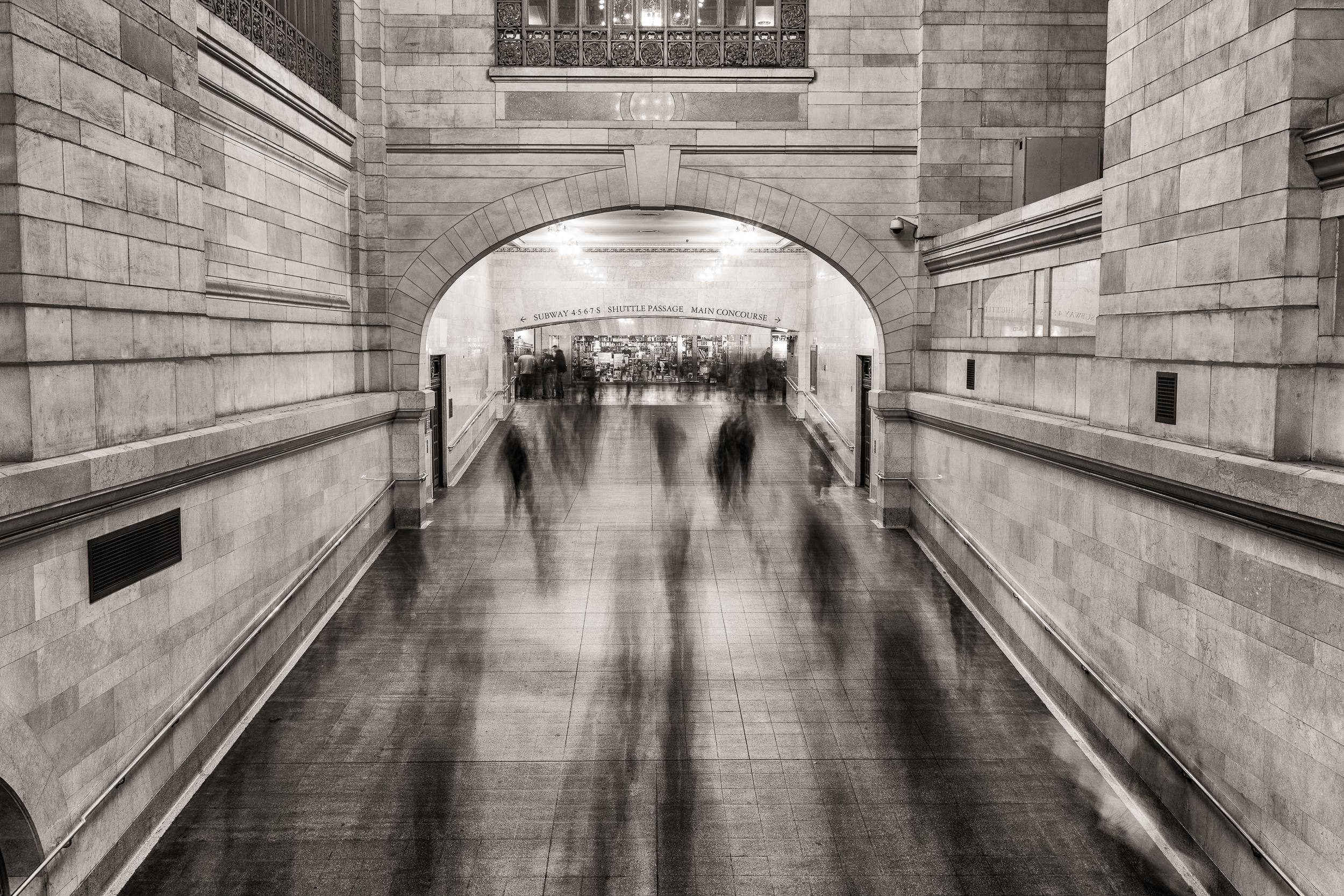 """""""Grand Central Ghosts,"""" Urban Architectural Photograph, 40"""" x 60"""""""