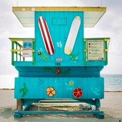"""Miami Lifeguard Stand - 100,"" Contemporary Coastal Photograph - 20x20"