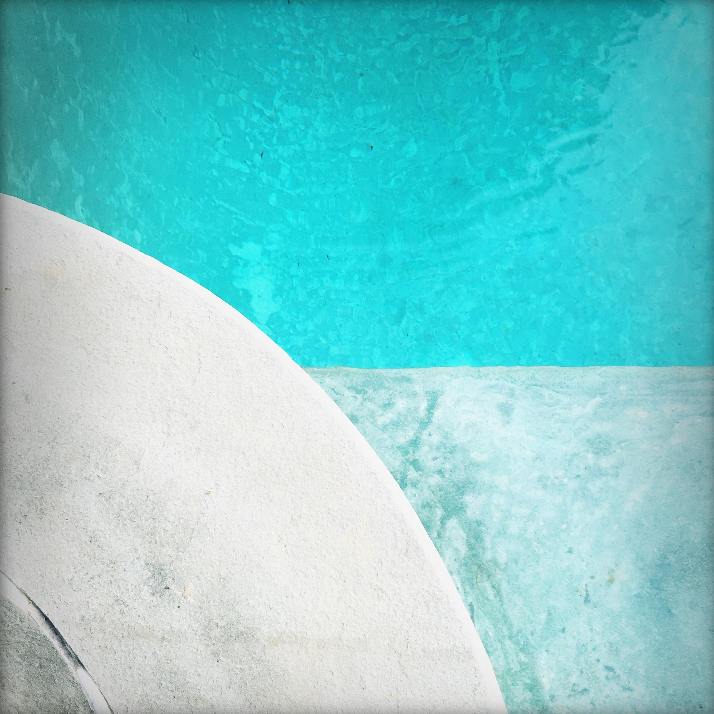 """""""Pool Step Series III,"""" Contemporary Photograph - 20x20"""
