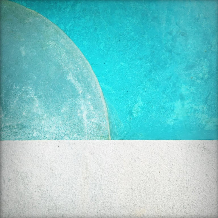 """Peter Mendelson Color Photograph - """"Pool Step Series IV,"""" Contemporary Photograph - 20x20"""