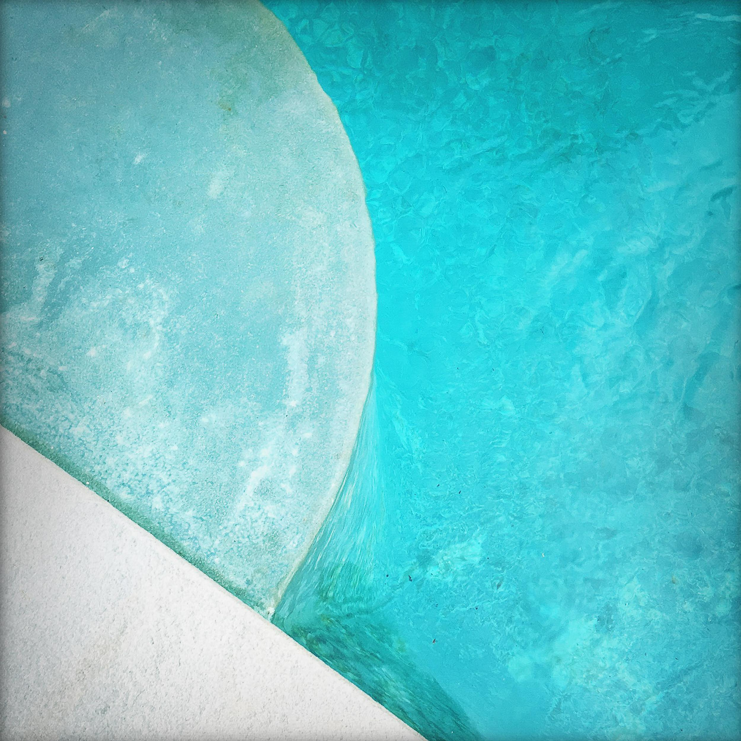 """Pool Step Series VII,"" Contemporary Photograph - 20x20"