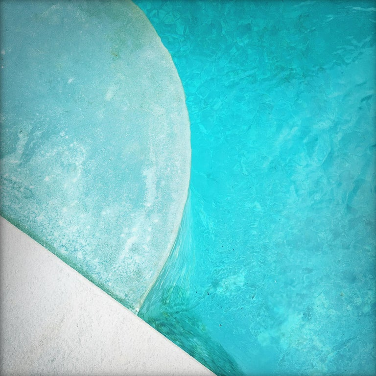 """Peter Mendelson Color Photograph - """"Pool Step Series VII,"""" Contemporary Photograph - 20x20"""