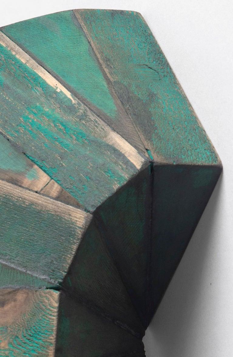 Green Mask - Sculpture by Peter Millett