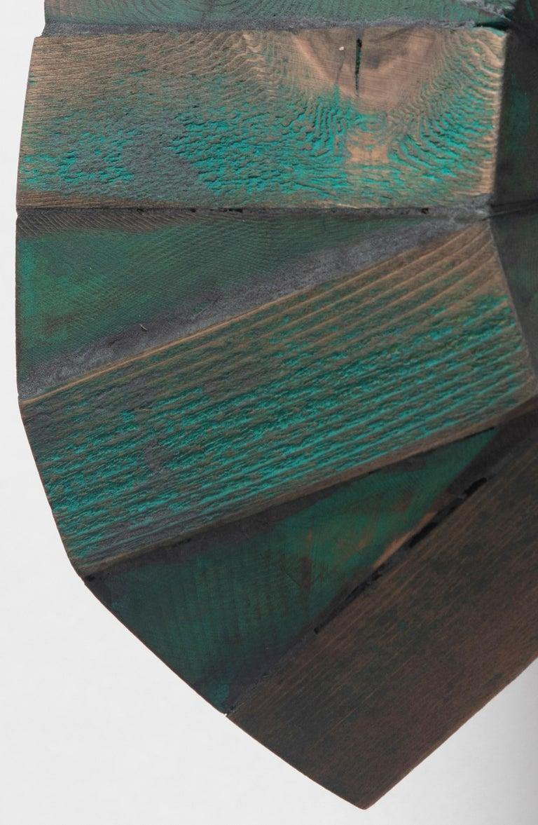 Green Mask - Abstract Geometric Sculpture by Peter Millett