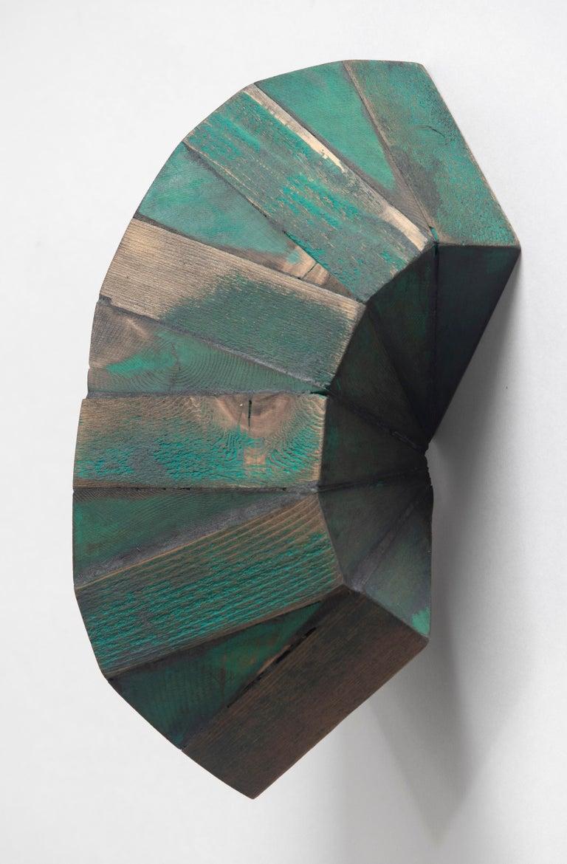 Peter Millett Abstract Sculpture - Green Mask