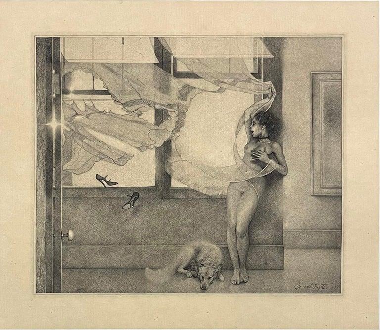 Peter Milton Nude Print - Io and Jupiter