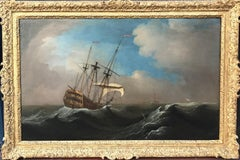 18th Century Oil Painting Marine Seascape by Peter Monamy