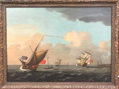Signed 18th Century Marine Painting by Peter Monamy