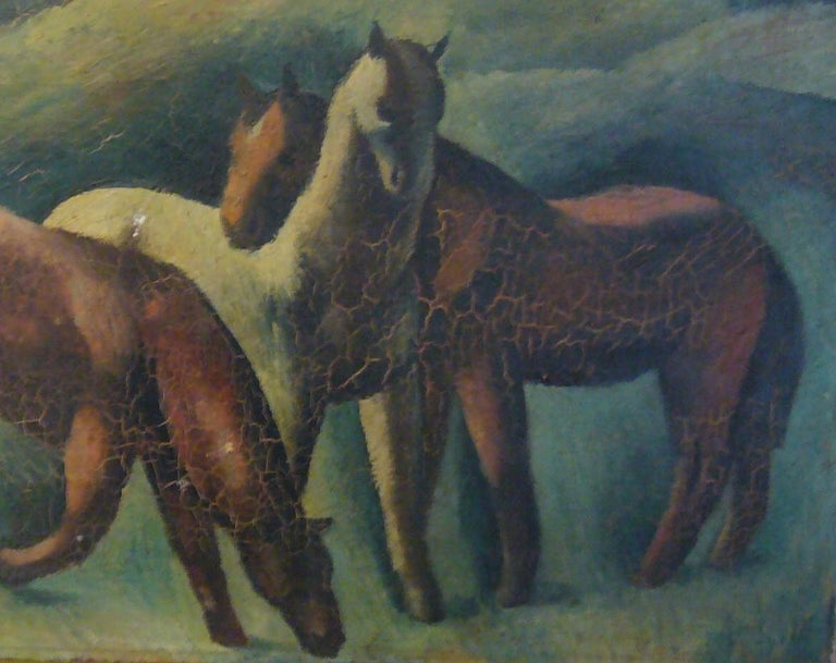 Chevaux - Painting by Peter Pálffy