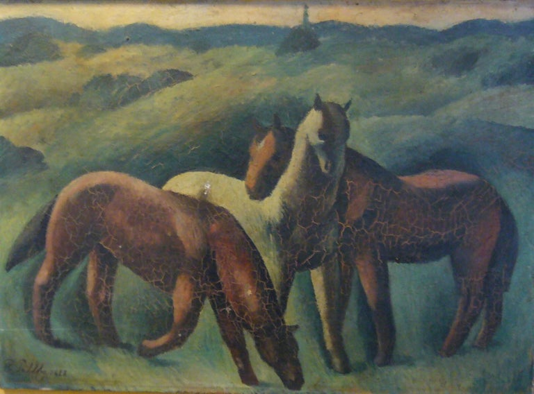 Peter Pálffy Animal Painting - Chevaux