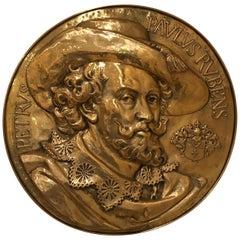 Peter Paul Rubens Brass Wall Plaque
