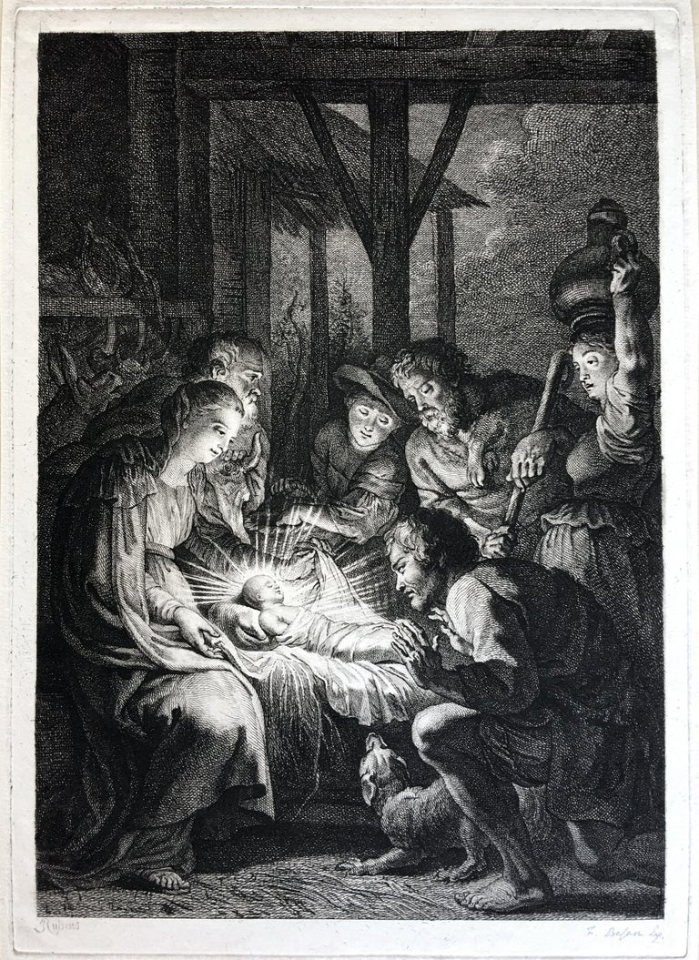Peter Paul Rubens Figurative Print - Adoration of the Shepherds