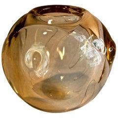 Peter Pellettieri 1980 Glass Bowl American Art Glass