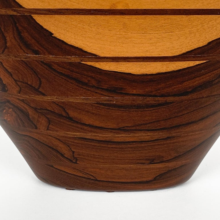 Peter Petrochko Carved Padauk and Ziricote Wood Bowl For Sale 9