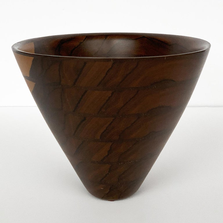 Peter Petrochko Carved Padauk and Ziricote Wood Bowl For Sale 1