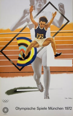 Athletism : Higher, Stronger, Further - Lithograph (Olympic Games Munich 1972)