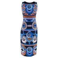 Peter Pilotto Blue Printed Midi Dress S UK 10