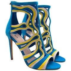 Peter Pilotto Cage Leather & Suede Sandals - Size EU 40