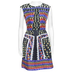 Peter Pilotto Fantasia Cheerleader Printed Silk Sleeveless Alexa Dress M