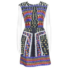Peter Pilotto Fantasia Cheerleader Printed Silk Sleeveless Alexa Dress M