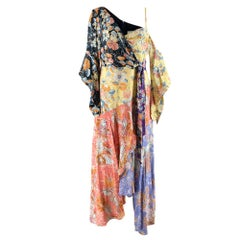 Peter Pilotto Floral Print Crepe De Chine Maxi Wrap Dress - Size US 10
