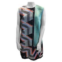 Peter Pilotto Multi-Color Print Silk Dress