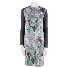 Peter Pilotto Multicolor Abstract Arrow Print Silk Jersey Long Sleeve Dress S