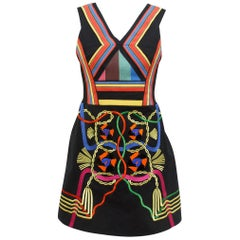 Peter Pilotto Multicolor Embroidered Fit-and-Flare Dress