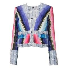 Peter Pilotto Multicolor Geometric Kaleidoscope Print Box Jacket S